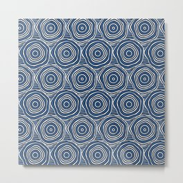 Primal Circle (Blue) Metal Print