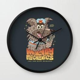 MANGY MECHANICS Wall Clock