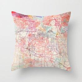 Parma map Ohio painting Throw Pillow