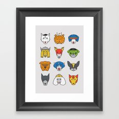 Super Dogs Framed Art Print