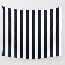 Vertical Stripes Black & White Wall Tapestry