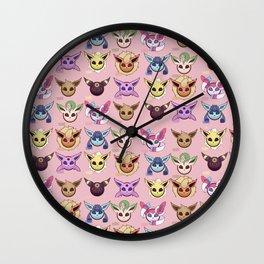 Eeveelutions Pink Wall Clock