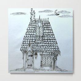 Fantasy Pixie House Metal Print