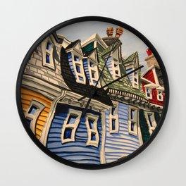 Prescott Street (Rooftops) Wall Clock