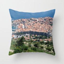 Over Dubrovnik, Croatia Throw Pillow