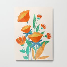Summer Flowers I Metal Print