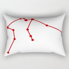 Aquarius (Red & White) Rectangular Pillow