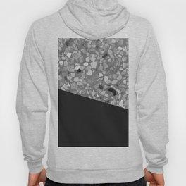 Terrazzo Texture Grey Black #7 Hoody