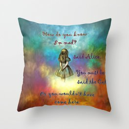 Wonderland Time - Alice In Wonderland Quote Throw Pillow