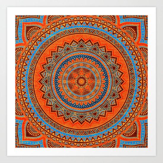 Hippie mandala 77 Art Print