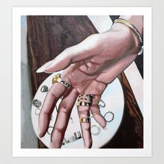 Re-Created Hand, the Touch of Love by Robert S. Lee Art Print
