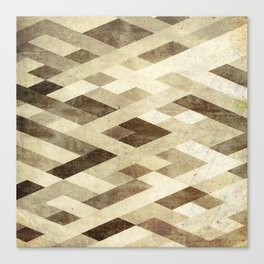 Abstract Pattern in Brown Canvas Print