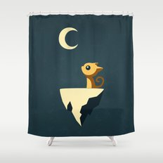 Moon Cat Shower Curtain
