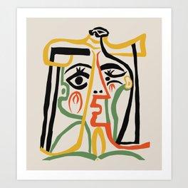 Picasso - Woman's head #1 Art Print