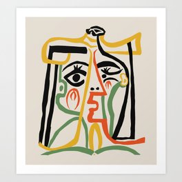 Picasso - Woman's head #1 Art Print