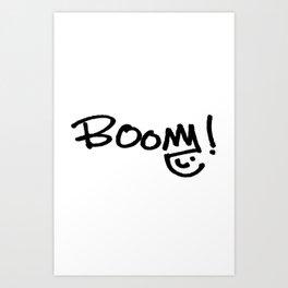 BOOM! Original Design by Jill Fressinier Art Print