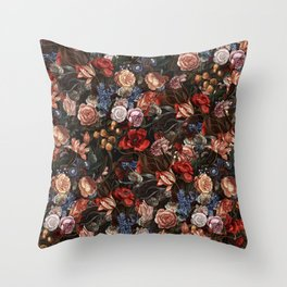 Vintage Summer Floral Throw Pillow