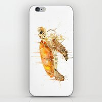 sea turtle iPhone & iPod Skins featuring Sea Turtle  by Meg Ashford