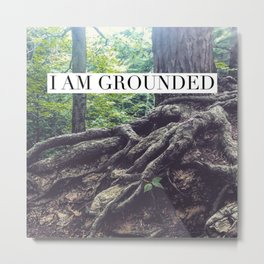 I Am Grounded Metal Print