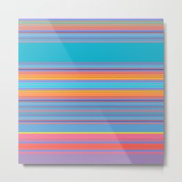 Bold Color Rainbow Stripes Metal Print