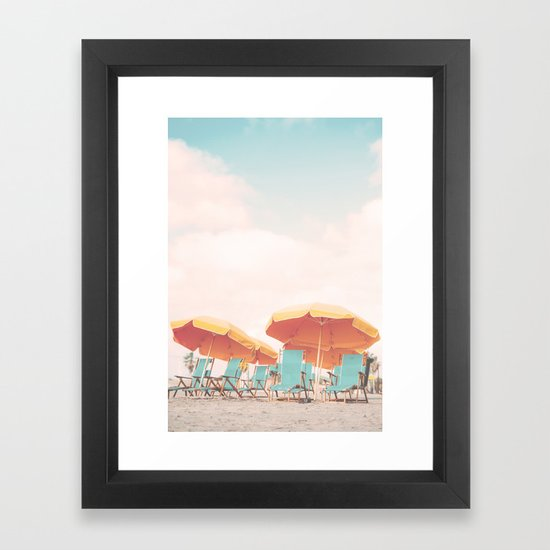 Beach Chairs and Umbrellas by scissorhaus