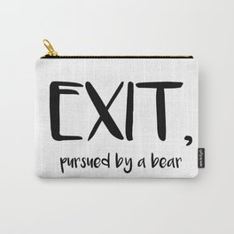 Exit, pursured by a bear - Shakespeare Carry-All Pouch