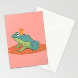 Coral Frog Prince Stationery Cards