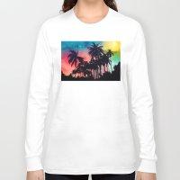 palm tree Long Sleeve T-shirts featuring palm tree by mark ashkenazi