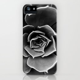 Black and White Succulent iPhone Case