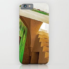 Wood green door in the countryside of Salento, Italy iPhone Case