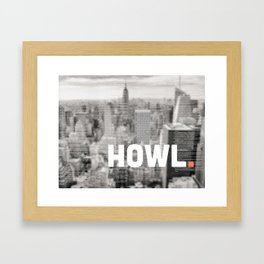 Howlin' with Ginsberg Framed Art Print