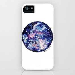 Nebula Planet with Seed of Life iPhone Case