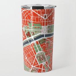 Paris city map classic Travel Mug