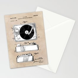 patent art Like combination sound and picture mechanism 1950 Stationery Cards