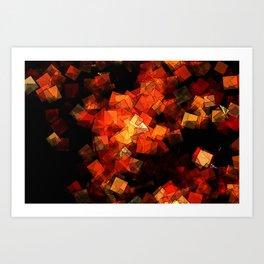 square fantasy embers Art Print