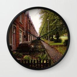 HOUSE ROW. Wall Clock