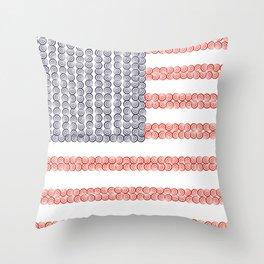 Captain American Flag Throw Pillow