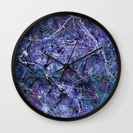 Pollock 2.0 Wall Clock
