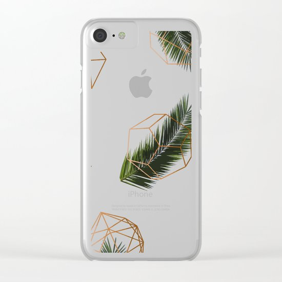 Palm + Geometry #society6 #decor #buyart Clear iPhone Case