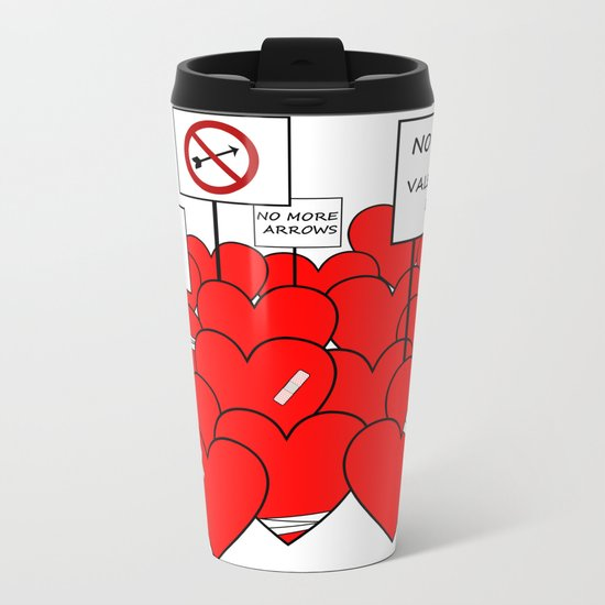 NO MORE VALENTINE'S DAY (love valentine) Metal Travel Mug