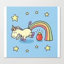 cute jump unicorn Canvas Print