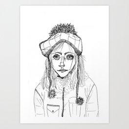 Snow Sleet Sad Art Print