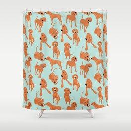 Redbone  Coonhound Pattern Shower Curtain