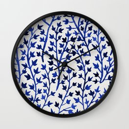 Porcelain Ivy Wall Clock