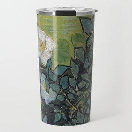 1890-Vincent van Gogh-Wild roses-24,5x33 Travel Mug