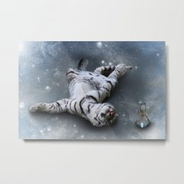 Tiger and Rabbit Metal Print