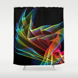 Dancing Northern Lights, Abstract Summer Sky Shower Curtain