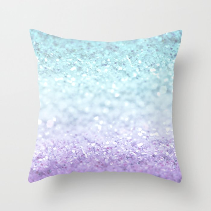 MERMAIDIANS AQUA PURPLE Throw Pillow