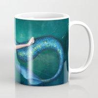 mermaid Mugs featuring Mermaid by Annya Kai