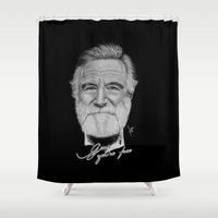 robin williams Shower Curtains featuring Robin Williams by Svartrev